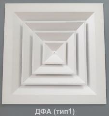 Дифузор ДФА 293 х 293 стельовий алюмінієвий