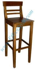 Bar stool Walker High. A wooden bar stool for