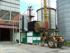 Drying of grain on straw. Zernosushilka