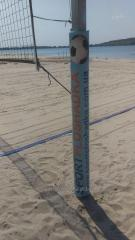 Racks for volleyball with adjustmen