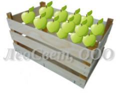 Box wooden under fruit and vegetables