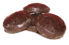 Пряники Шоколадна ніч с добавлением натурального меда и какао-порошка, заглазированные кондитерской глазурью