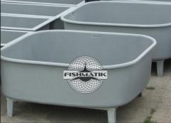 Бассейны стеклопластиковые для выращивания личинки и молоди рыбы