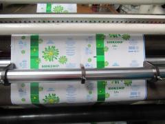 Упаковка для молока и кисломолочных продуктов,