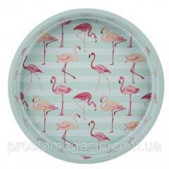 """Поднос \""""Flamingo\"""" 33 см,  бирюзовый"""