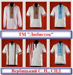 Shirts the embroidered upper TM Lyubistok