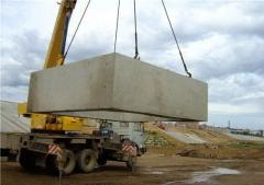 Links reinforced concrete for water throughput