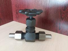 Вентиль игольчатый 15С54БК с ниппель-гайкой