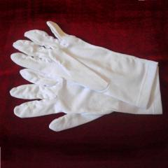 Gloves white officer front doors, tailoring,