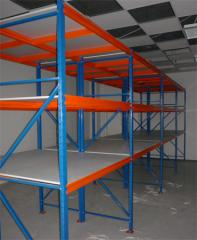 Racks warehouse to 1000 kg to a regimen