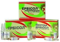 Erbisol of 2 ml. amp. No. 10 (Erbisol®)