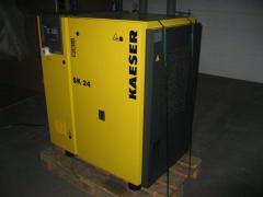 The second-hand screw Kaeser SK 24 compressor in