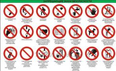 Prohibition signs of safety