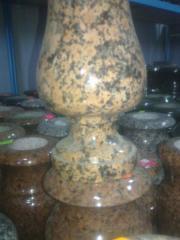 Гранитные вазы, изделия из природного