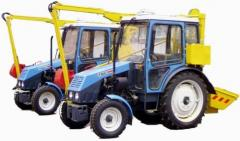 The car for cleaning of viewing and rain wells of