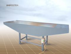 Vibrotable for production of the big range of
