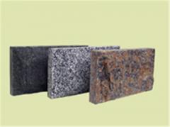 Tile socle Scala of a gabbro (black), pokostovka