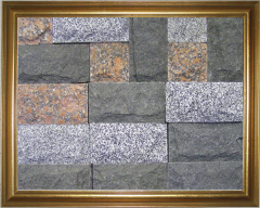 The tile from a natural stone of a gabbro, facets