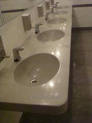 Умывальники в ванные и уборные комнаты из
