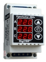 Three-phase relays of tension V-protector 380V