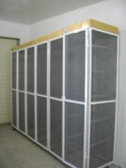 Drying cabinet for preparation of production for