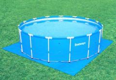 Каркасные круглые бассейны для разведения рыбы, 10м3, 366х122см; 56088