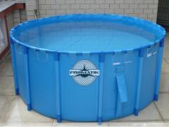 Быстросборные каркасные басейны для разведения рыбы в УЗВ