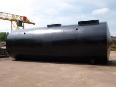 Резервуари, ємності вертикальні, горизонтальні обсягом 2,5 - 100 м.куб з нержавіючої сталі