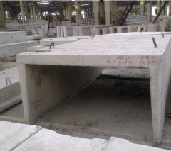 Reinforced concrete products. Trays are reinforced