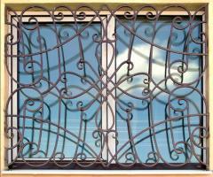 Оконные решетки фигурные, кованые решетки для