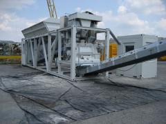 The fast-mounted concrete plants of the container