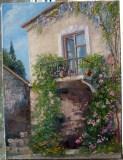 Картина маслом Балкон в старой Алупке