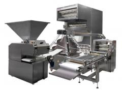 Production line of preparations of bakery