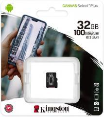 Карта памяти micro SDHC 32GB Kingston (class 10)