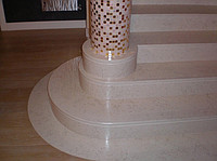 Rail-posts from marble