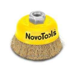 Щетка торцевая Novo Tools для болгарки  гофр.
