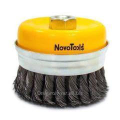 Щетка для болгарки Novo Tools  торцевая, плет.
