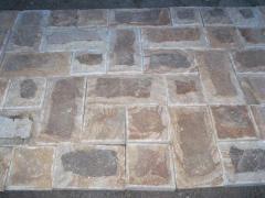 The mosaic is rectangular rustovanny