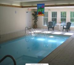Ventilating installations for pools