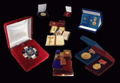 Cases for awards, medals, awards, jewelry