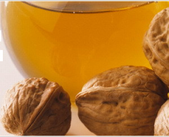 Oil of a walnut of a cold extraction from the