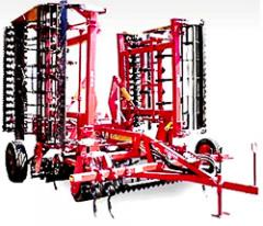 The unit the combined preseeding semi-hinged