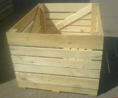 Ящики деревянные на экспорт для овощей и фруктов,