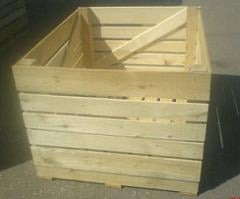 Boxes wooden for vegetables and fruit, the