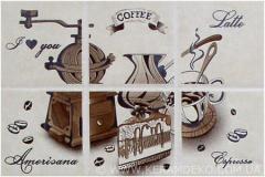 Decor ceramic under a tile Etna coffee