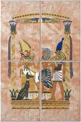 Tile painted Egypt collection