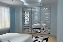 The sliding wardrobes which are built in in