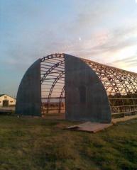Arochnye karkas a hangar of arch 15x30x7,5 m to
