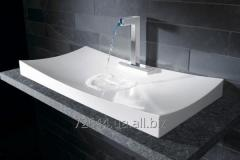 Wash basin from an artificial stone.
