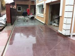 Concrete floors. Repair, polishing, polishing,